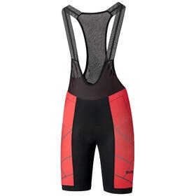 Shimano Team Bib Shorts Men, rojo